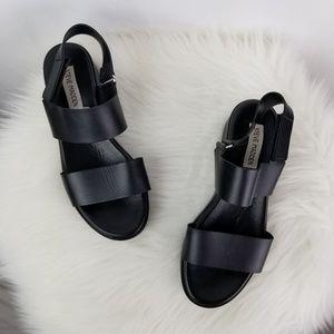 a35c8931b8a Steve Madden Rachel Black Platform Wedge Sandals